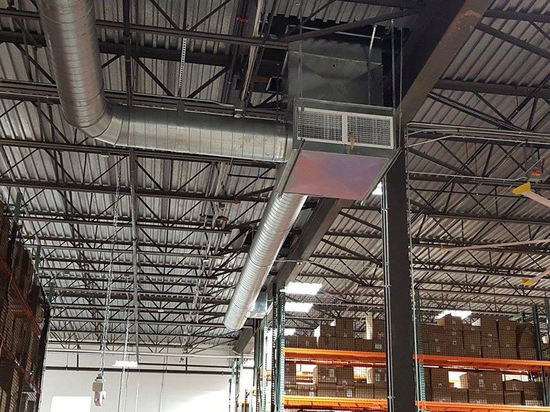 Roof top unit upgrade to distribution facility in Secaucus, NJ