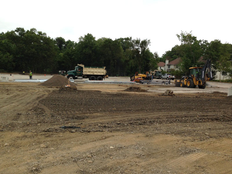 Ground-up commercial site work in Livingston, NJ