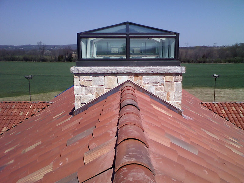 Custom roof tile in new ground-up structure in Lebanon, NJ